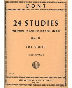 Dont Jakob 24 Studies Op. 37 Preparatory to Kreutzer Rode Studies Violin solo Ivan Galamian